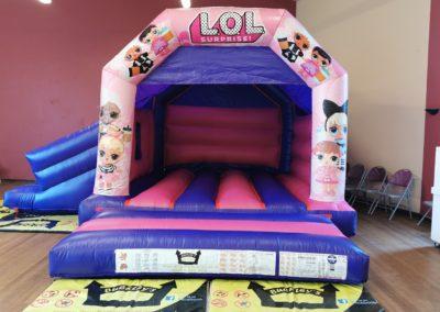 LOL Slide Bouncy Castle