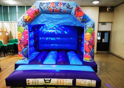 Blue Party Time Bouncy Castle