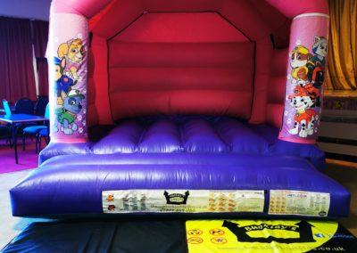 Pink Pups Patrol Bouncy Castle