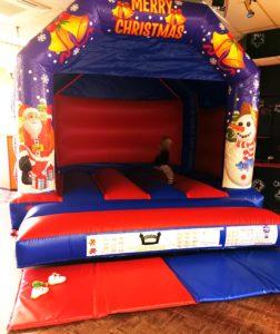 Christmas bouncy castle